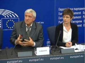 Mircea Diaconu, CULT rapporteur, speaking about the Report/EP Resolution 'Towards an integrated approach to cultural heritage for Europe' at a press conference held at the European Parliament on 8 September 2015. Photo: EP